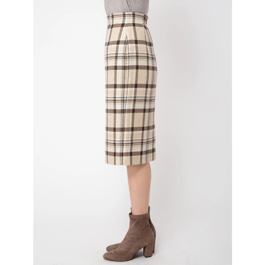 チェックタイトスカート 3