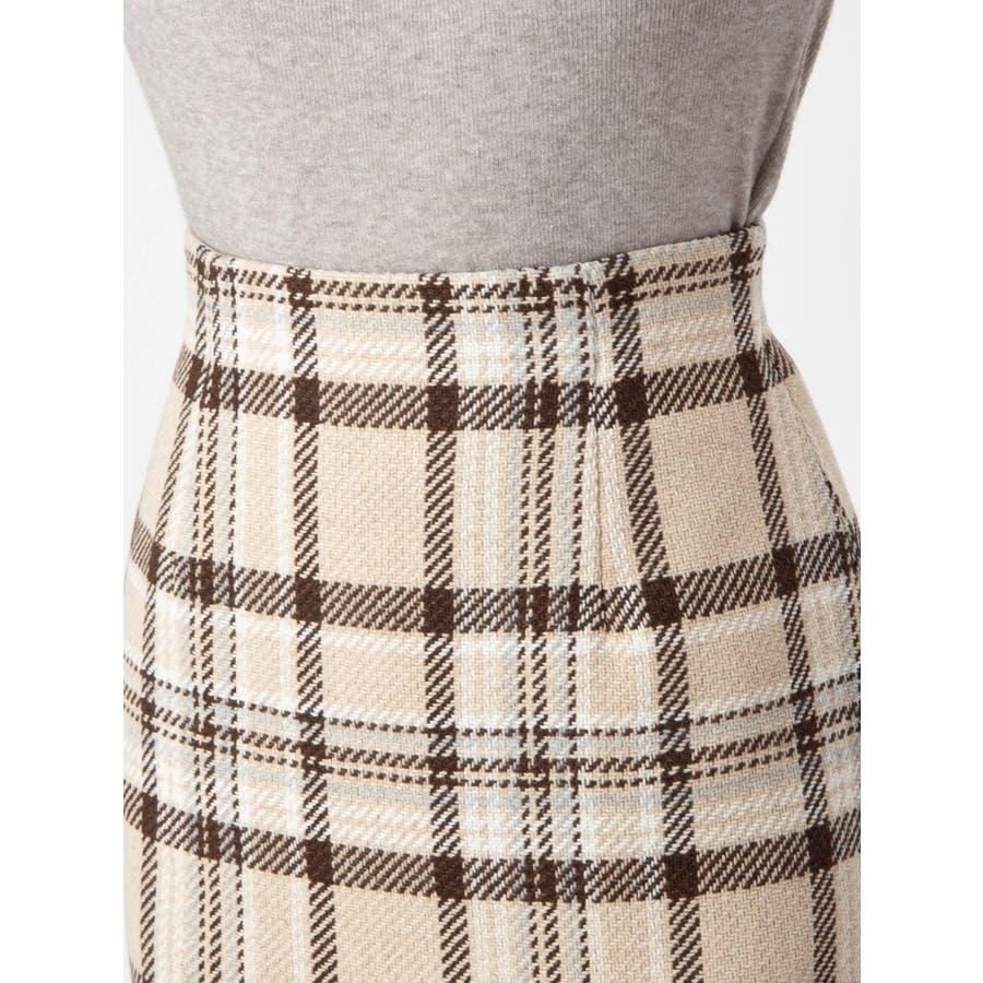 チェックタイトスカート 5