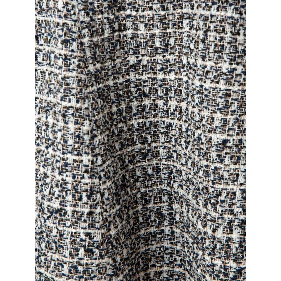 ツイードフリンジフレアスカート 8