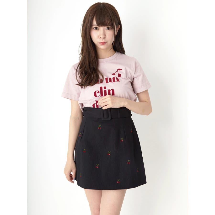 チェリー刺繍台形スカート 21