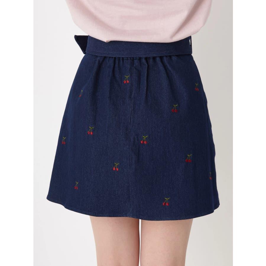 チェリー刺繍台形スカート 4