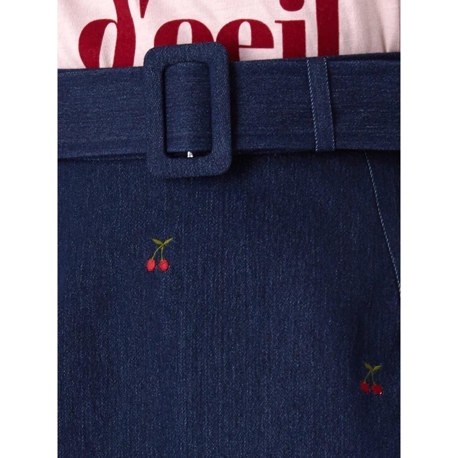 チェリー刺繍台形スカート 5