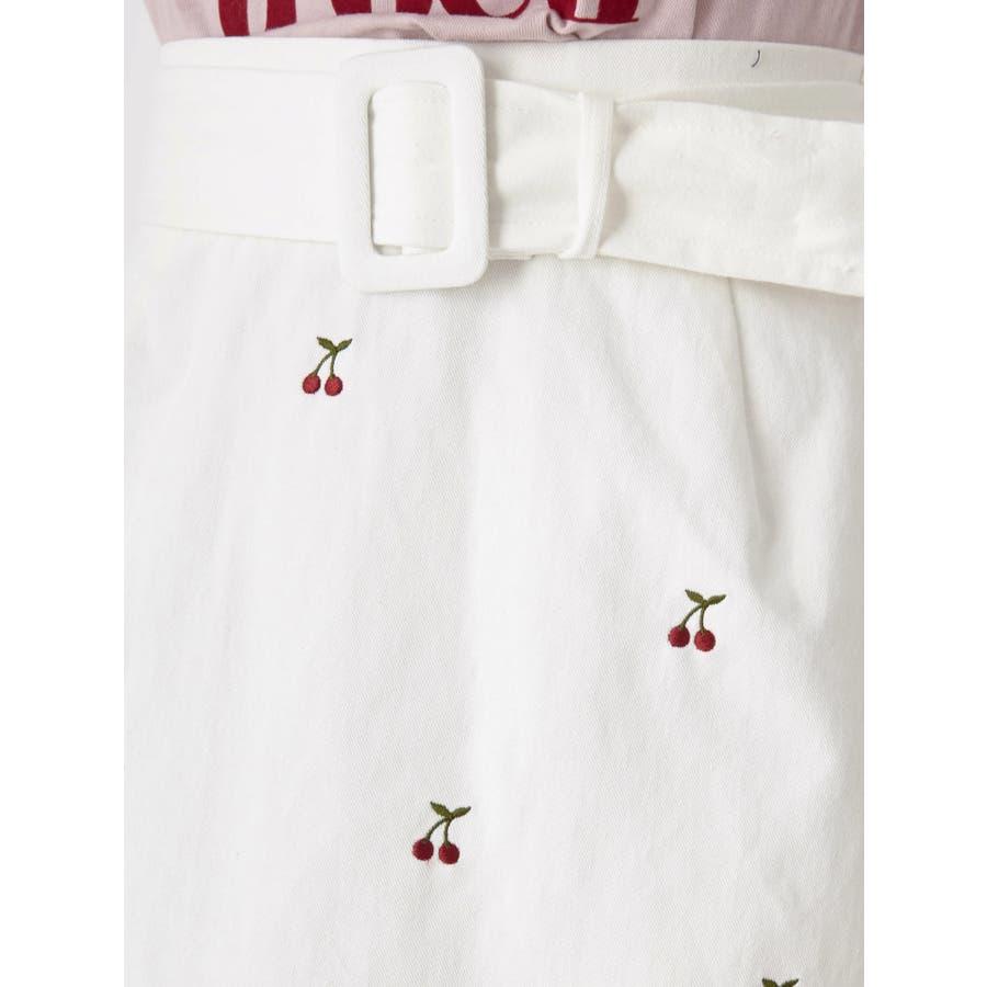 チェリー刺繍台形スカート 6