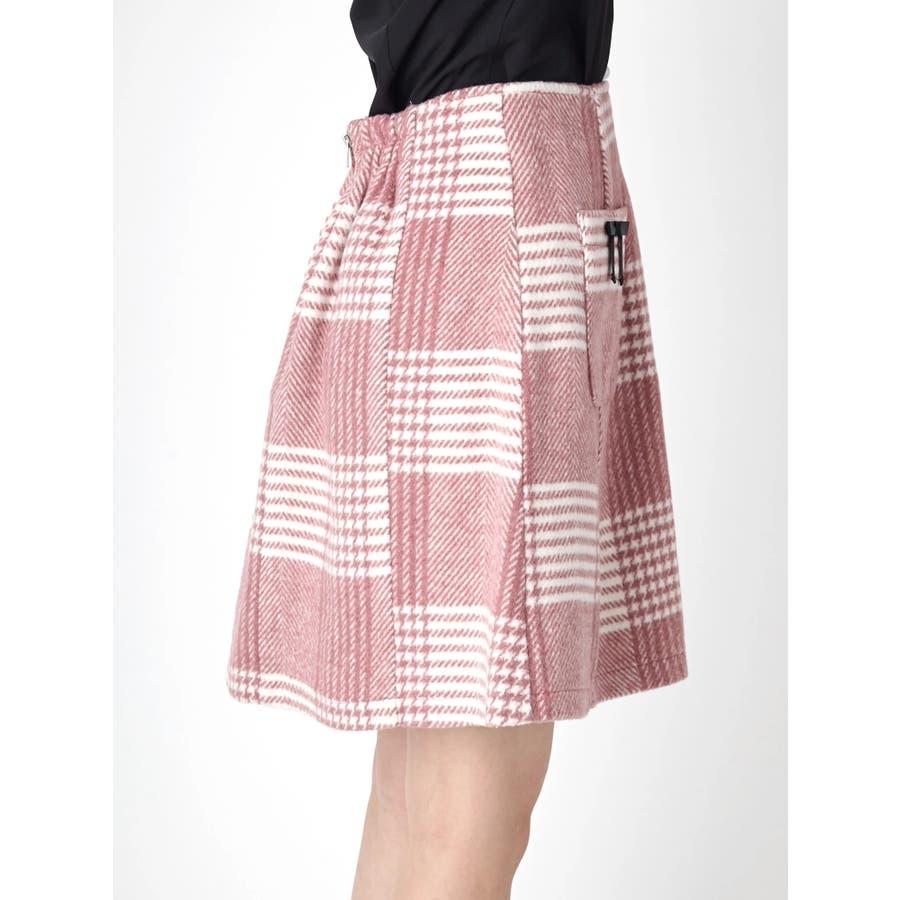 チェック台形スカート 3