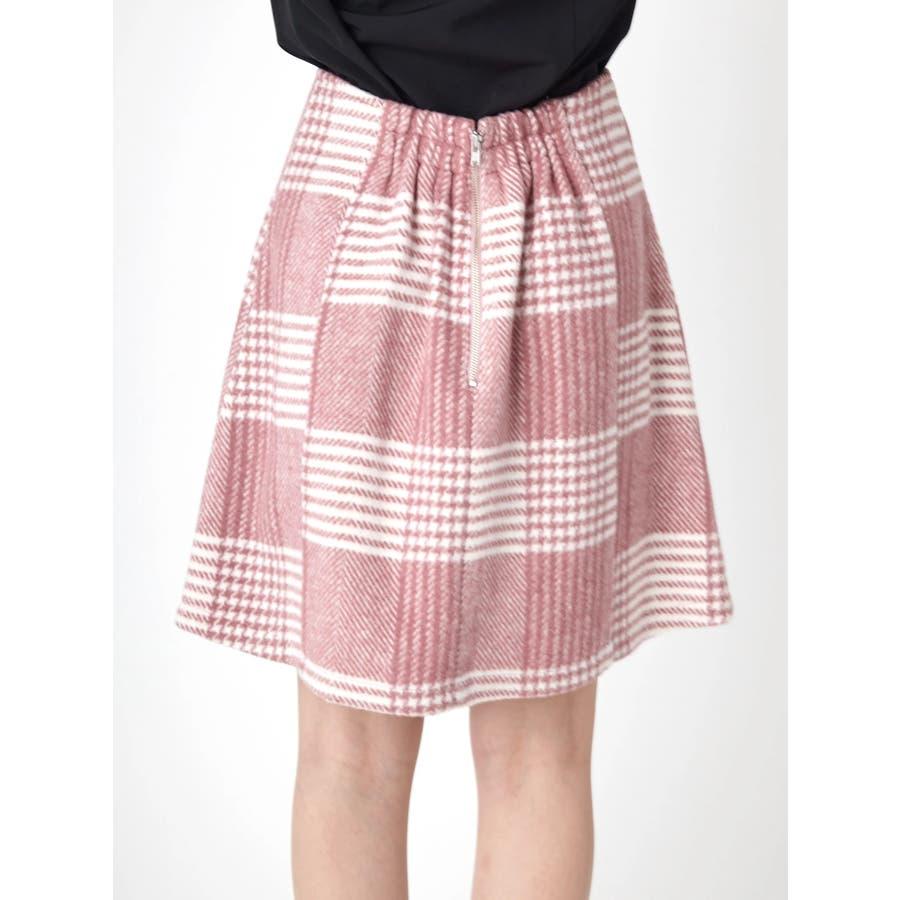 チェック台形スカート 4