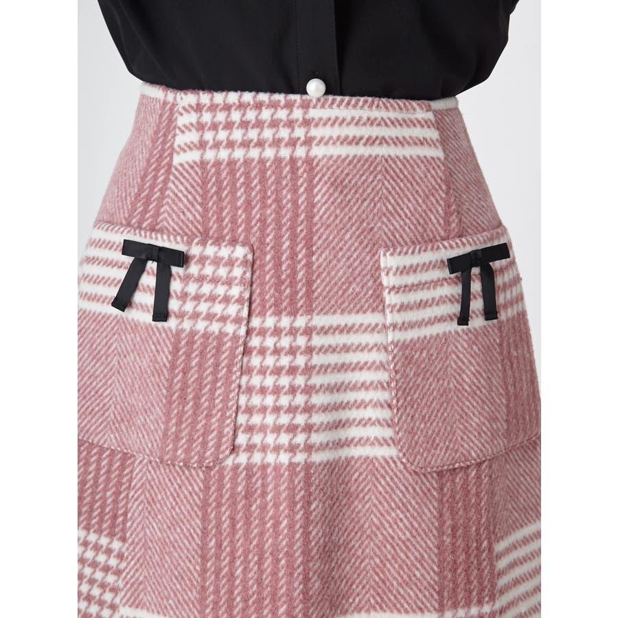 チェック台形スカート 5