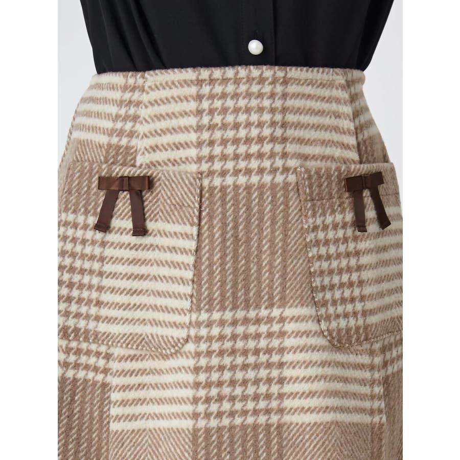 チェック台形スカート 6
