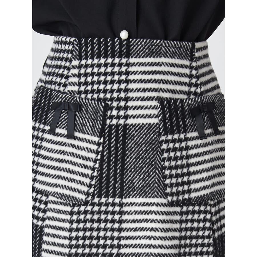 チェック台形スカート 7