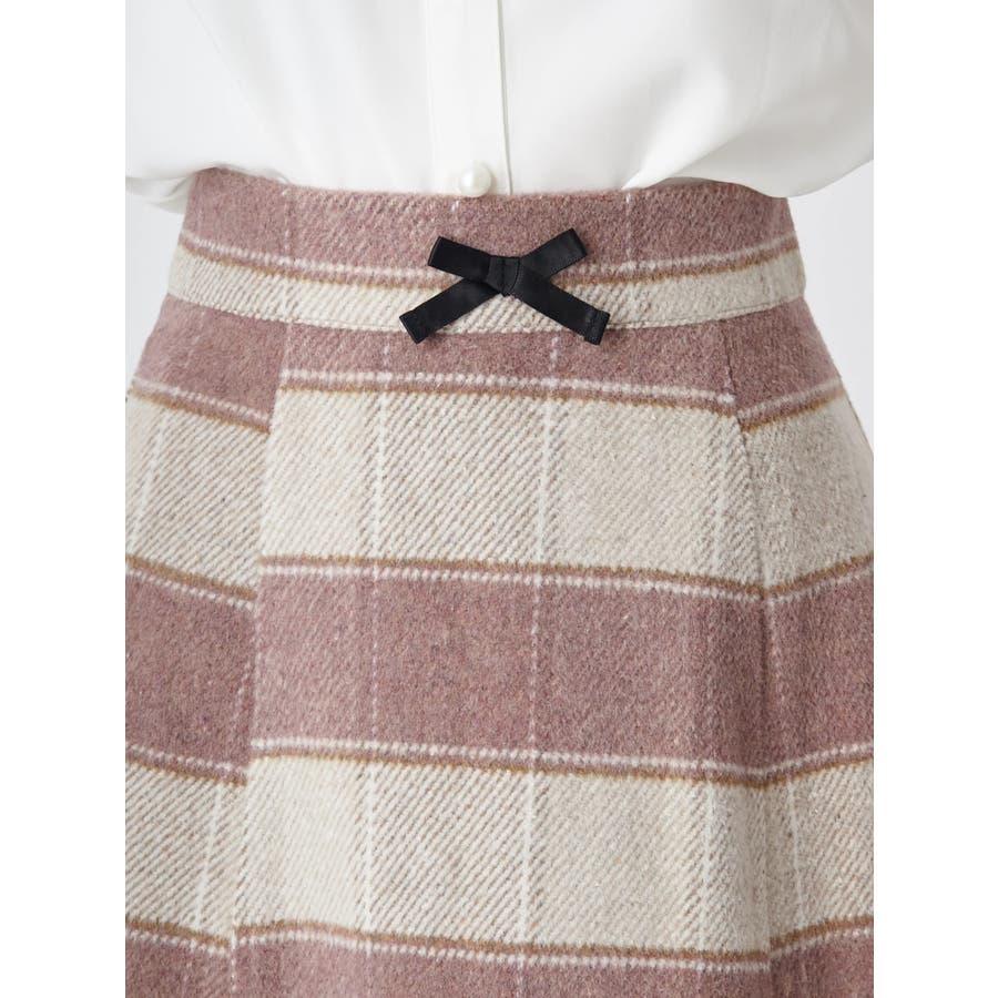 起毛台形ミニスカート 5