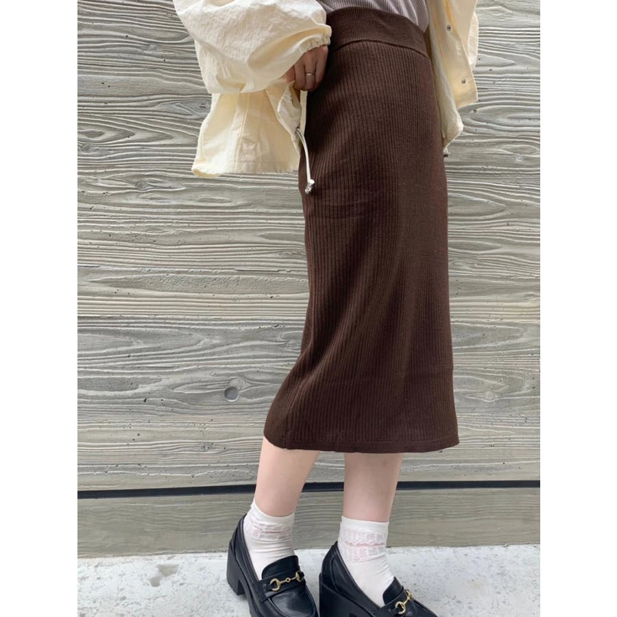 【Park Ave】リブニットスカート 1