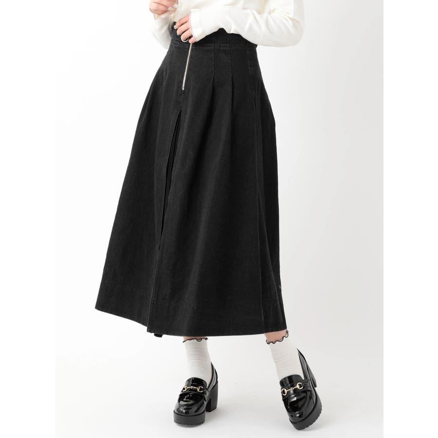 前プリーツデニムスカート 21