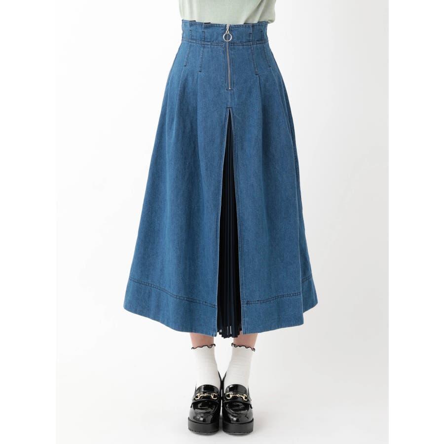 前プリーツデニムスカート 2