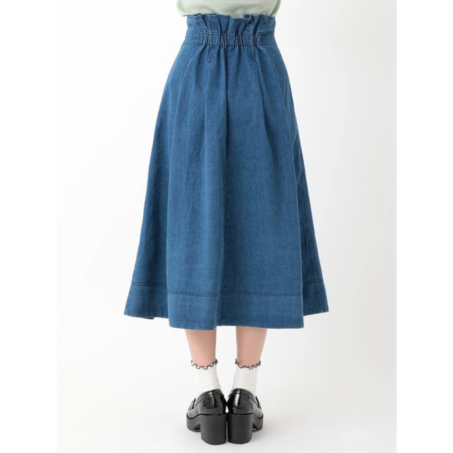 前プリーツデニムスカート 4