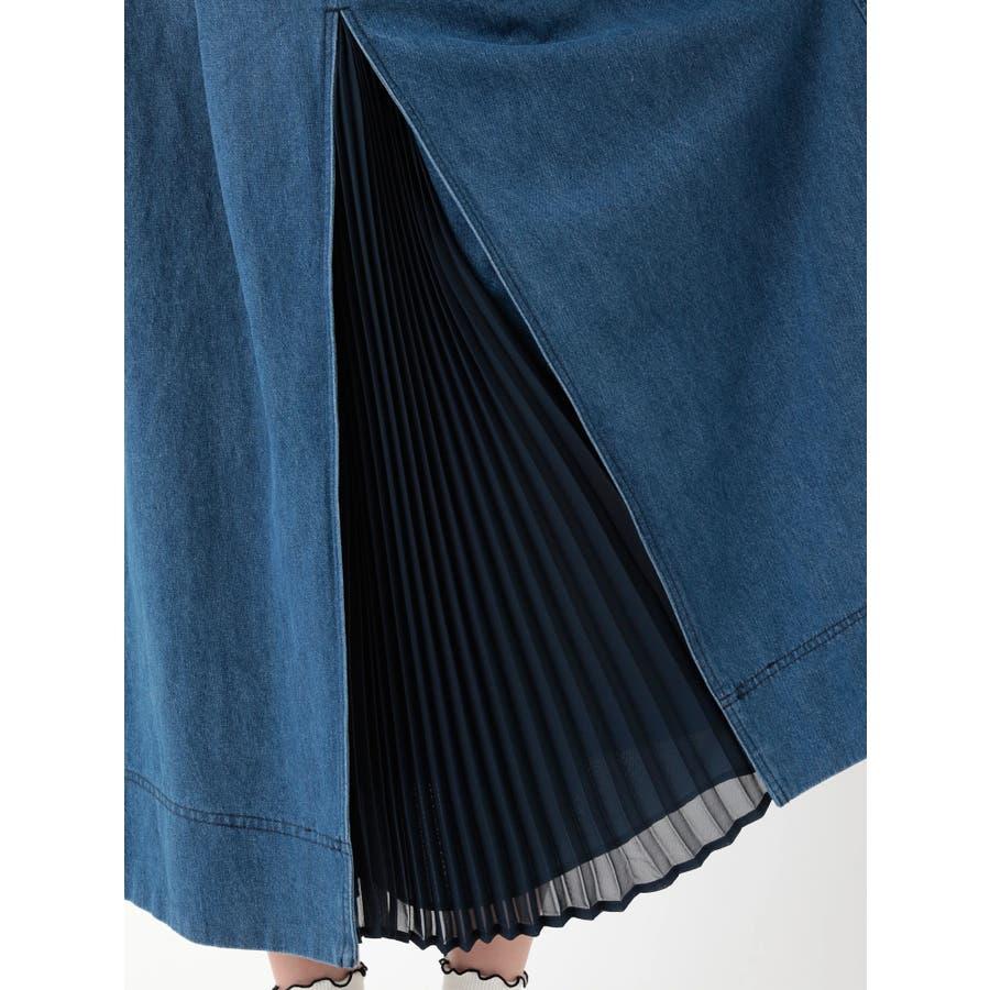 前プリーツデニムスカート 7