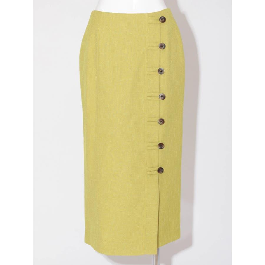 リネンライクデザインタイトスカート 1