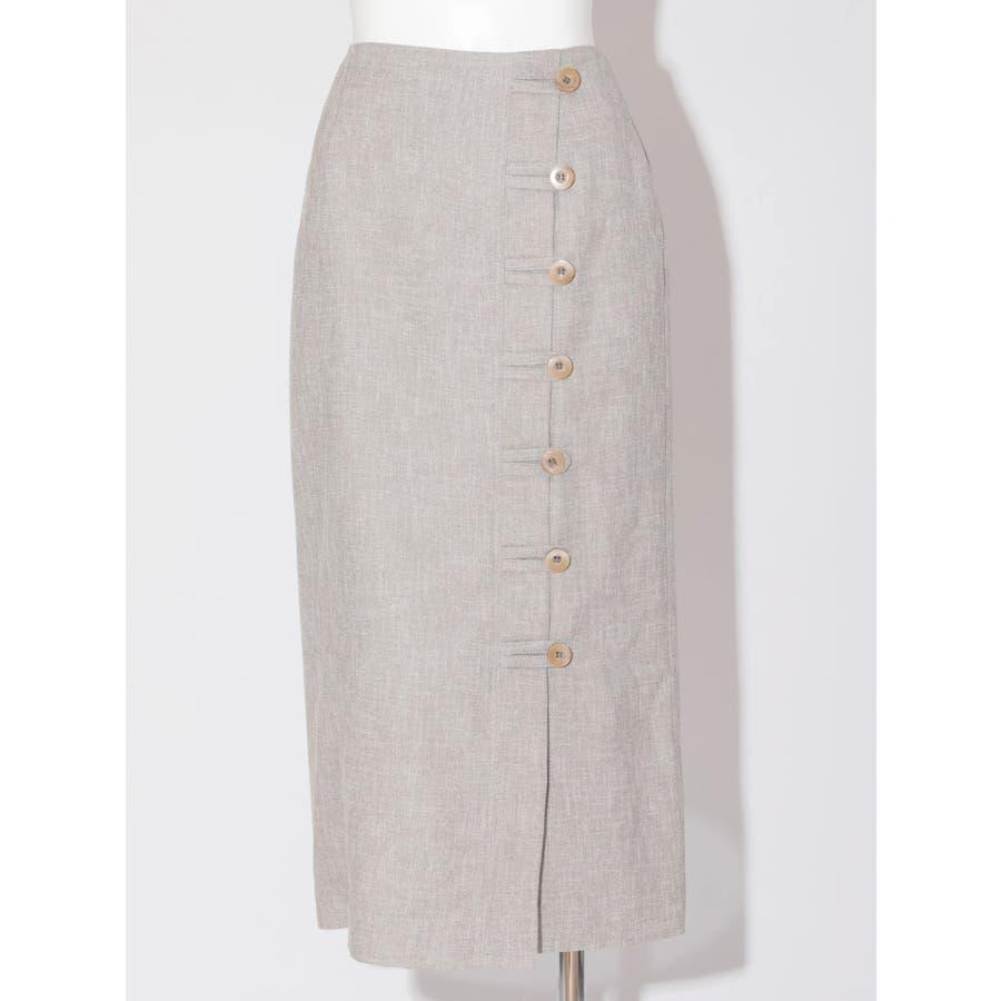 リネンライクデザインタイトスカート 41