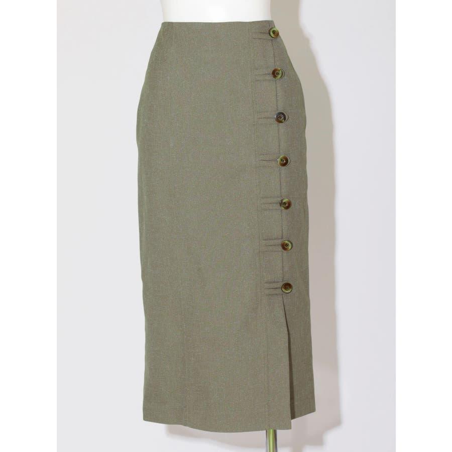 リネンライクデザインタイトスカート 53
