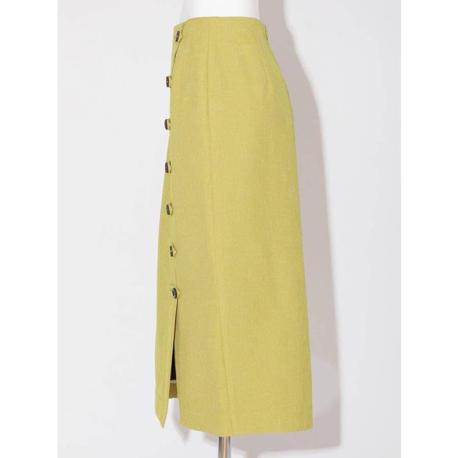リネンライクデザインタイトスカート 2