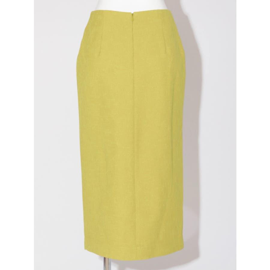 リネンライクデザインタイトスカート 3