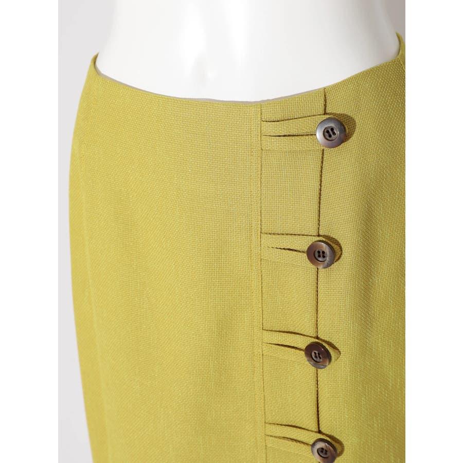リネンライクデザインタイトスカート 4