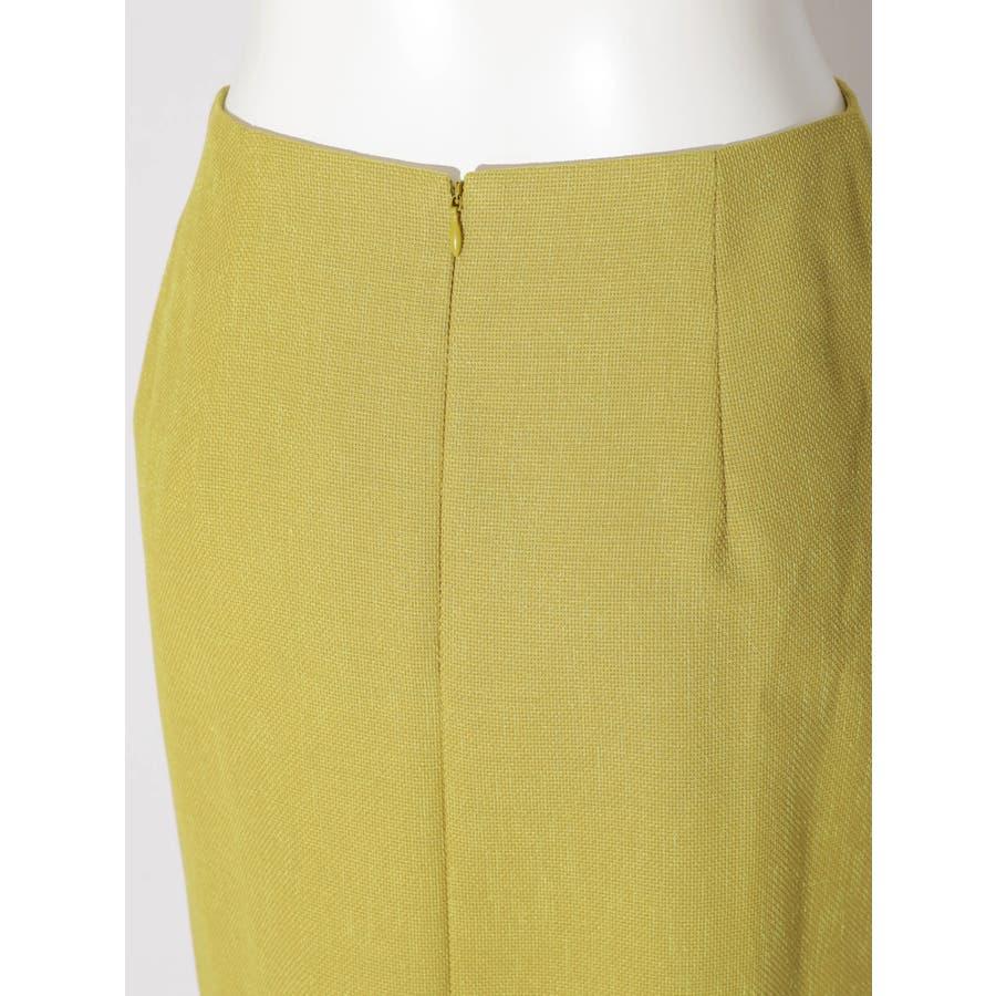 リネンライクデザインタイトスカート 5