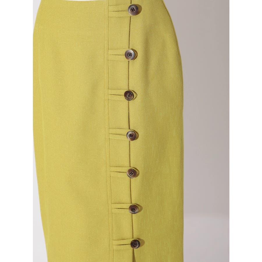 リネンライクデザインタイトスカート 6