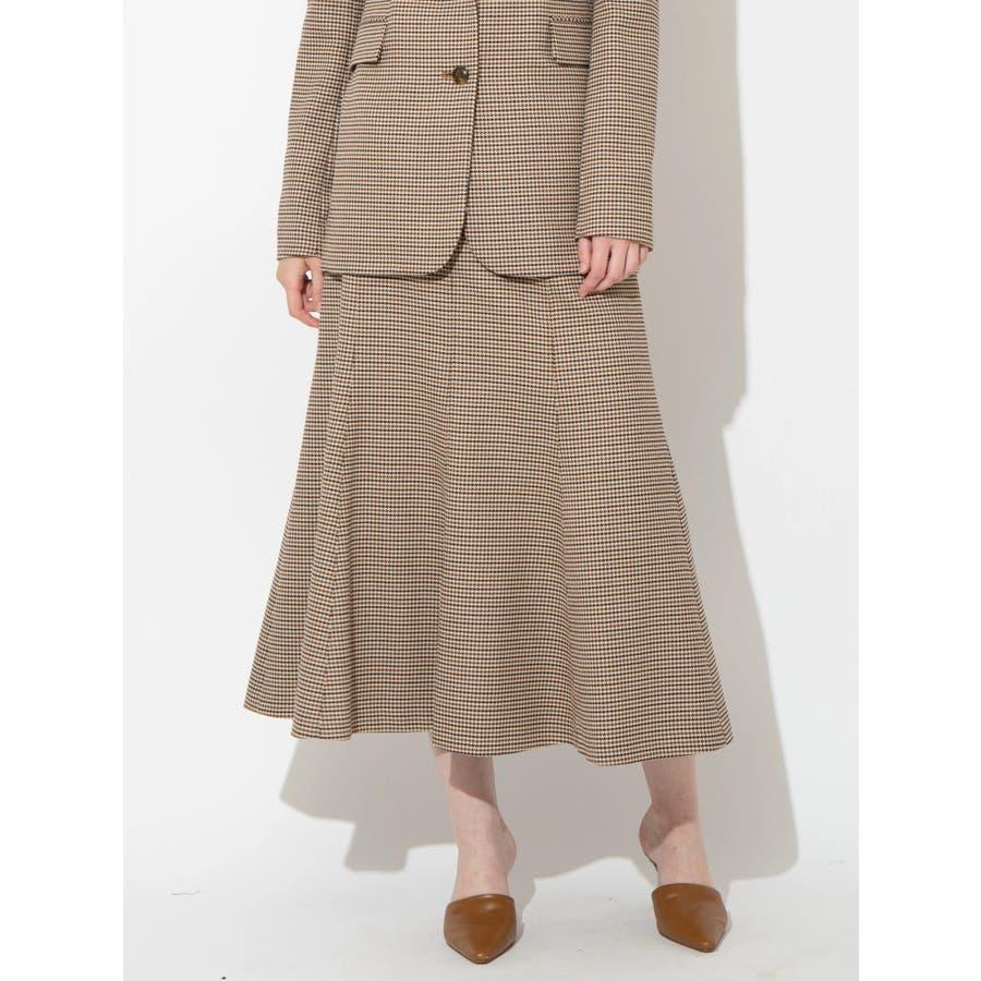 チェックツイルナロースカート 1