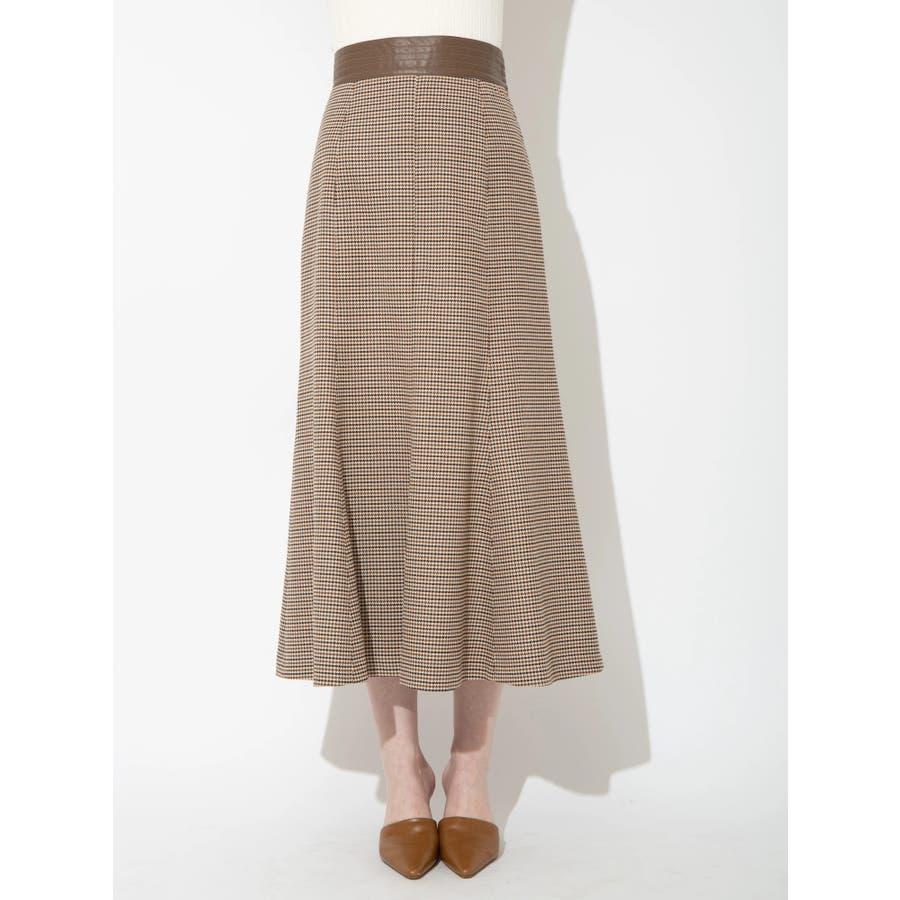 チェックツイルナロースカート 29