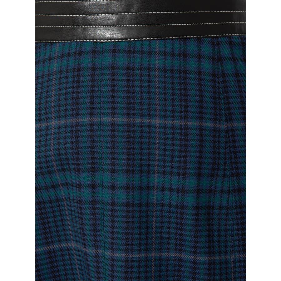 チェックツイルナロースカート 7