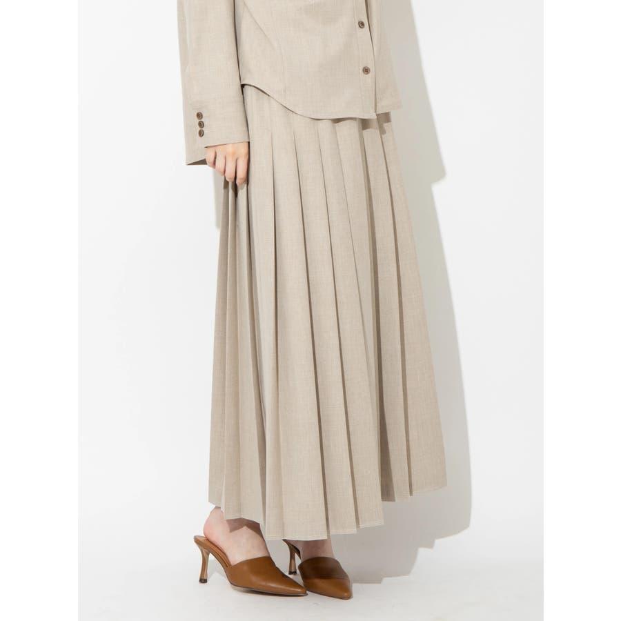 ウールブレンドプリーツスカート 1