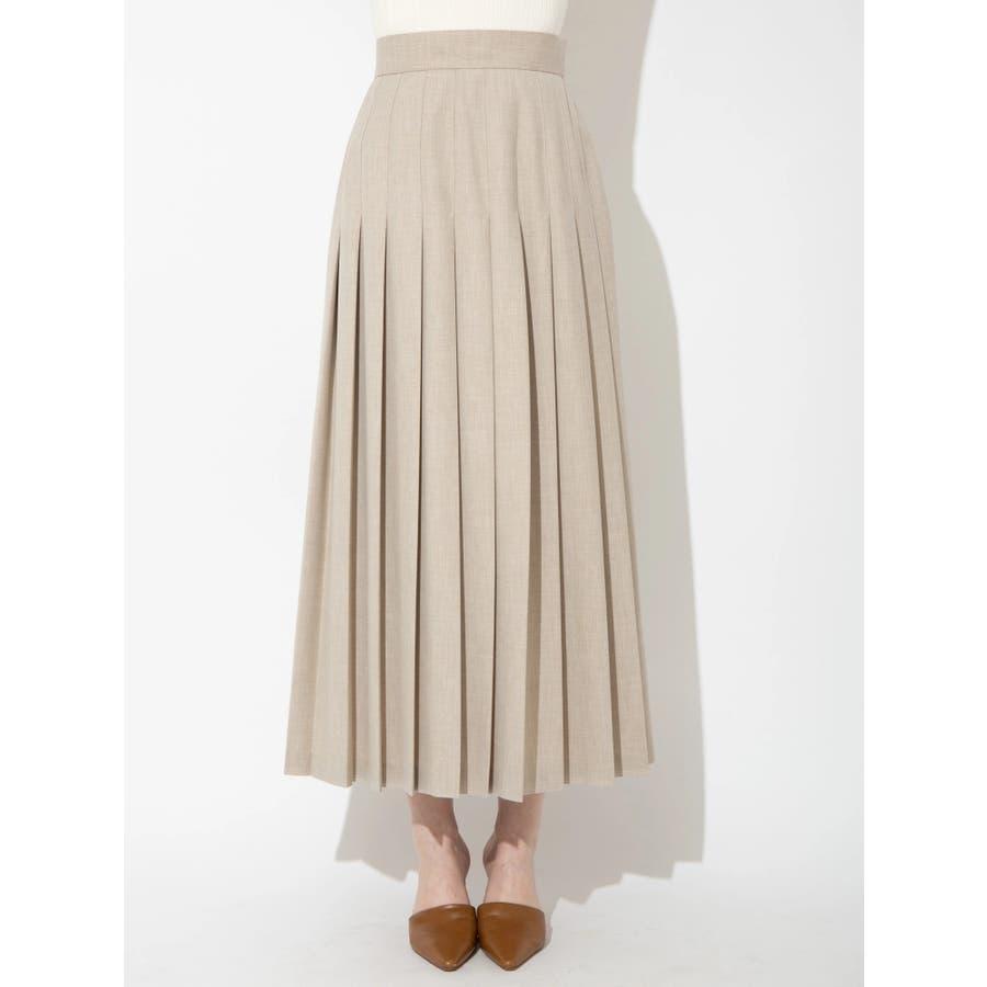 ウールブレンドプリーツスカート 41