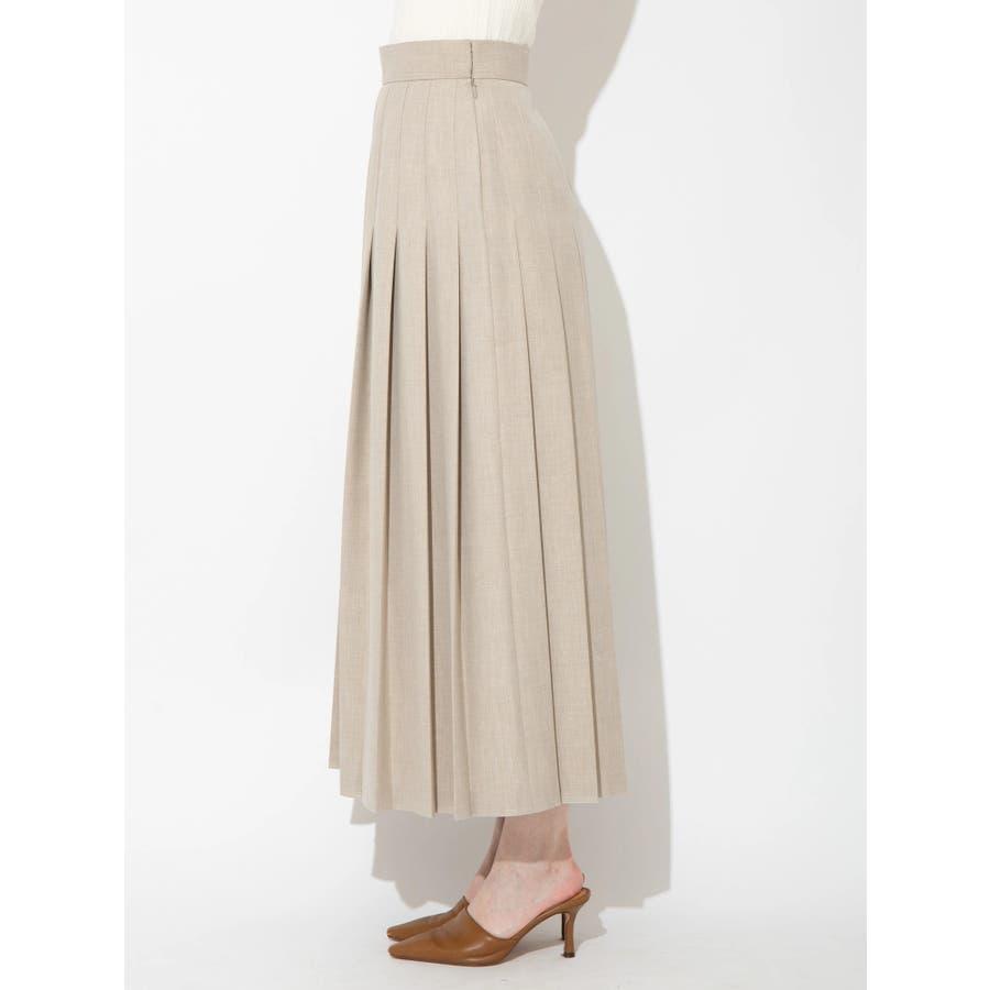 ウールブレンドプリーツスカート 2