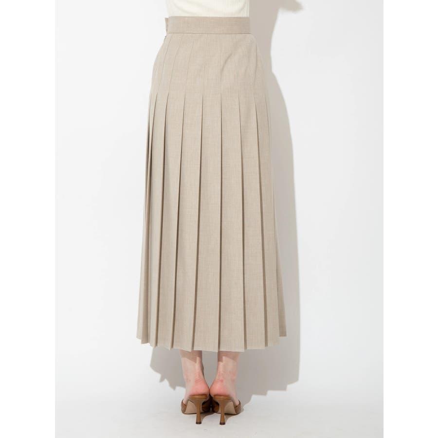 ウールブレンドプリーツスカート 3