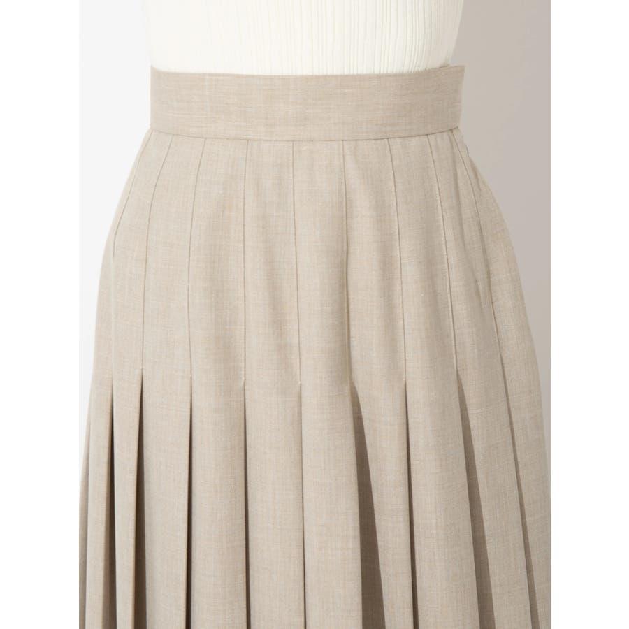 ウールブレンドプリーツスカート 4