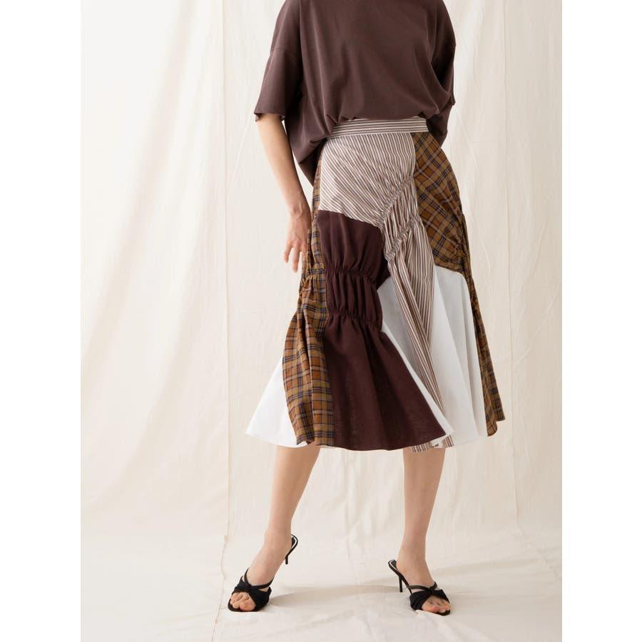 イレギュラーパターンギャザースカート 1