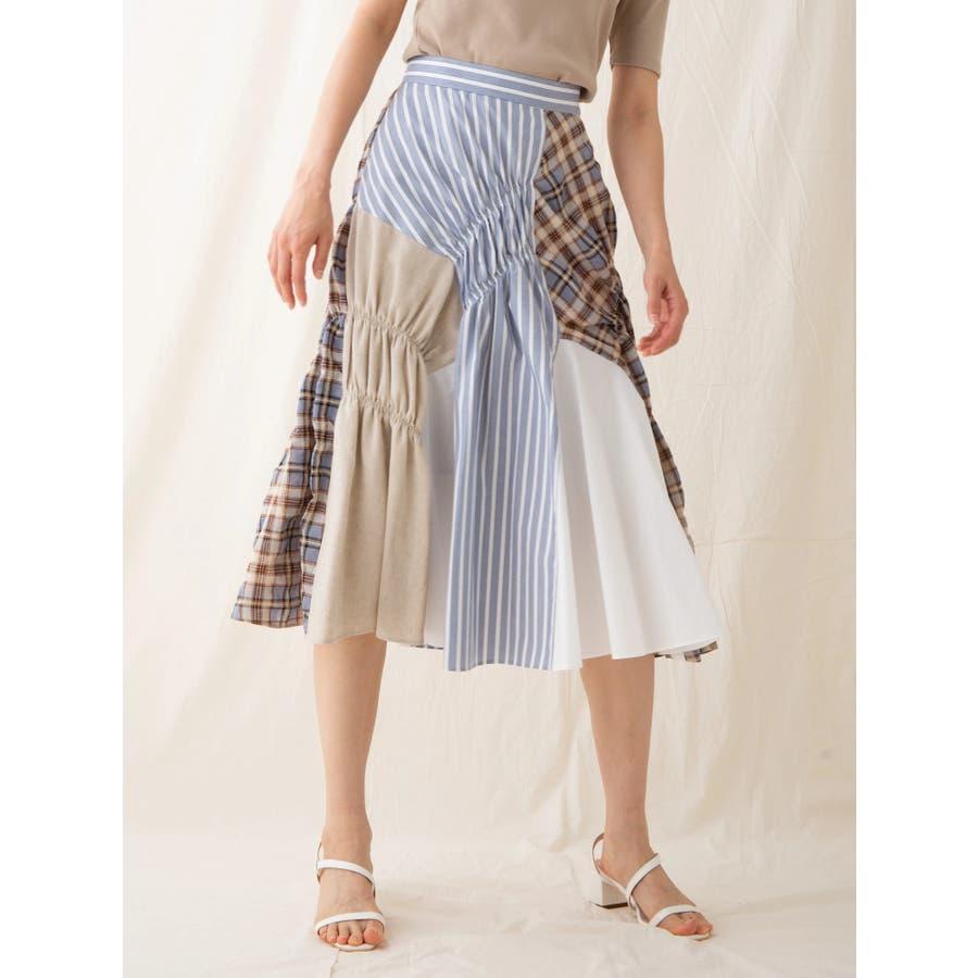イレギュラーパターンギャザースカート 18