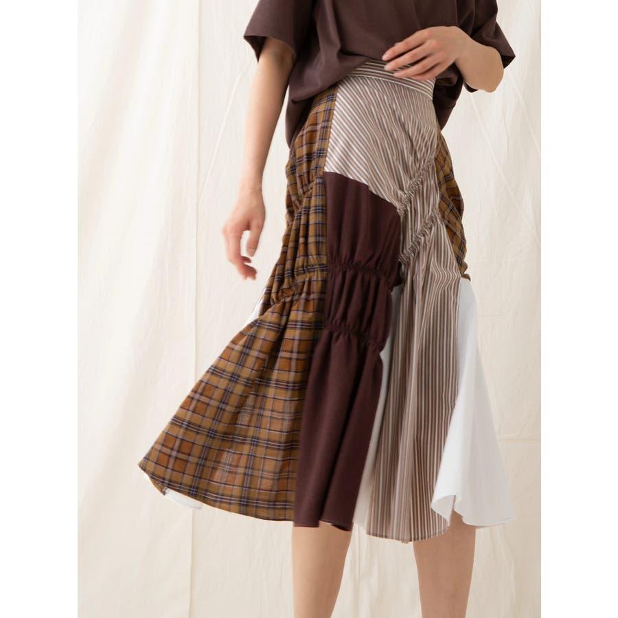 イレギュラーパターンギャザースカート 29