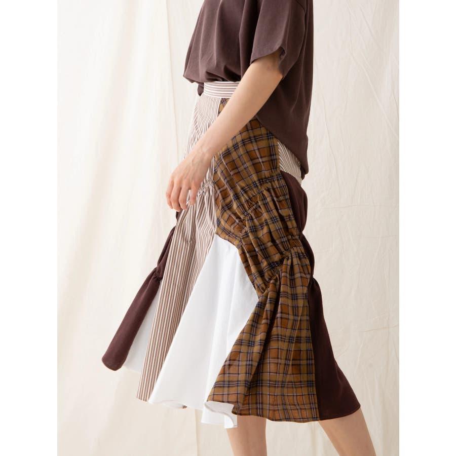 イレギュラーパターンギャザースカート 4