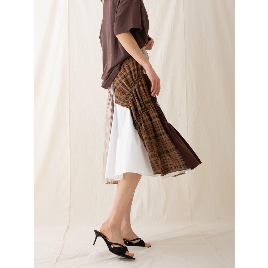 イレギュラーパターンギャザースカート 6