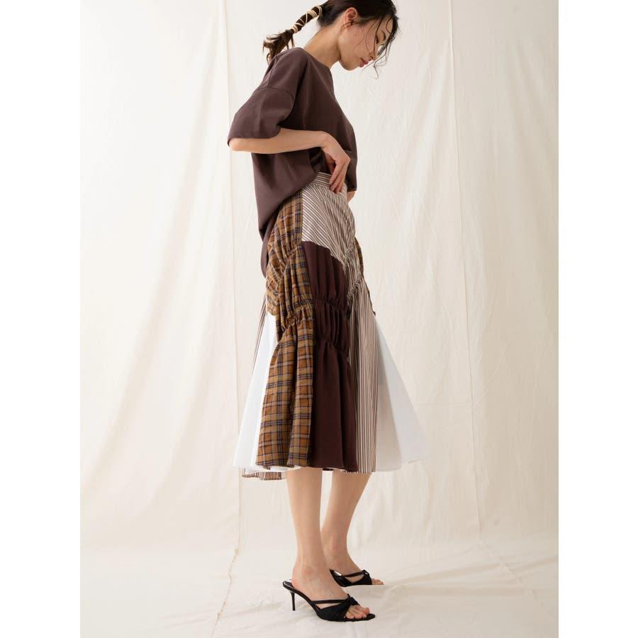 イレギュラーパターンギャザースカート 7