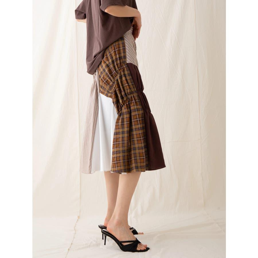 イレギュラーパターンギャザースカート 8
