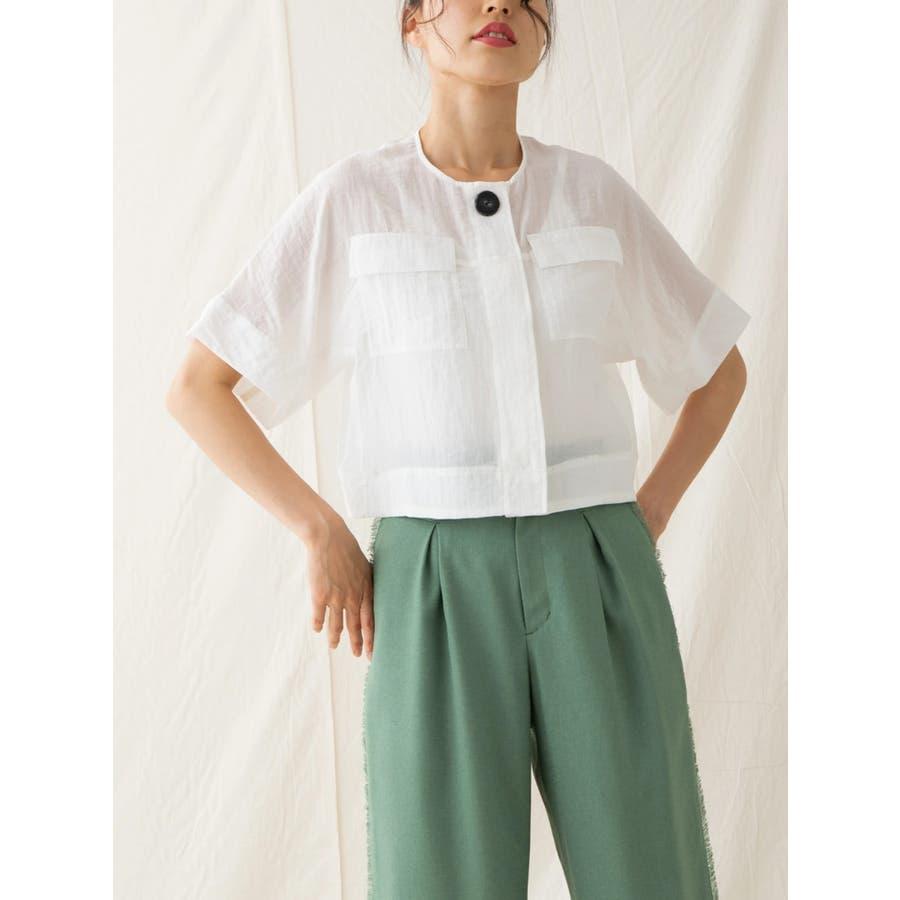 シャイニーヴィンテージワッシャーシャツジャケット 1