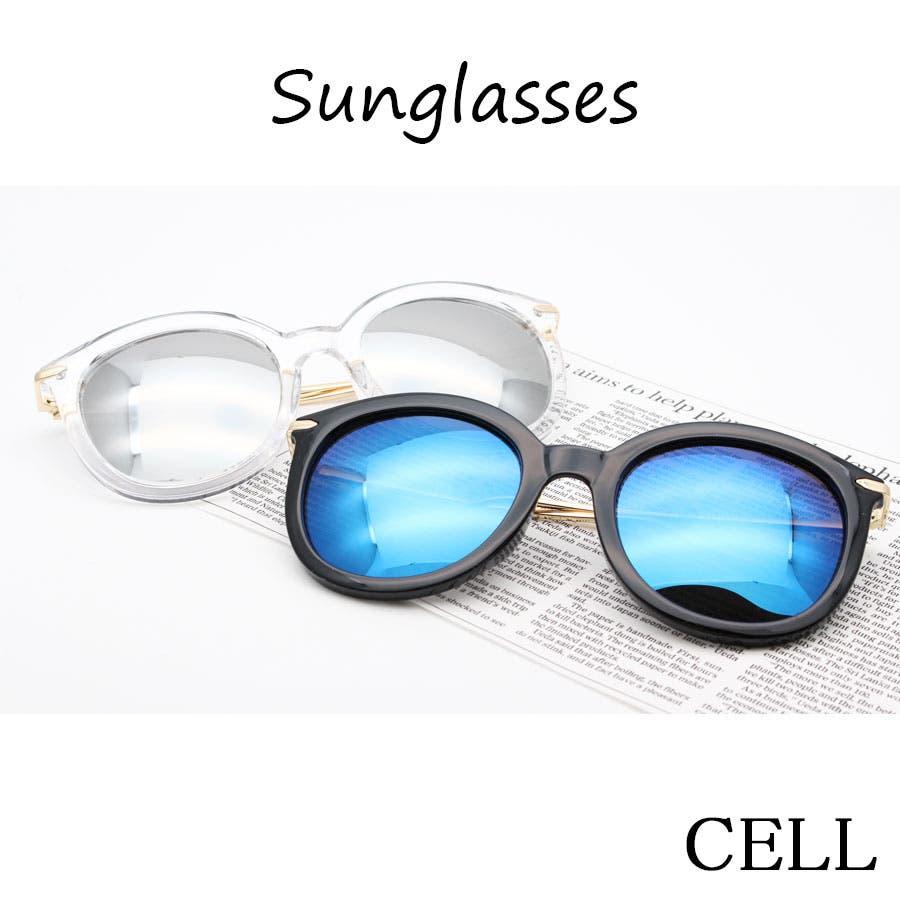 ad3c3b9fe418af 偏光レンズサングラス クリアフレーム/UVカット/おしゃれサングラス/眼鏡 ...