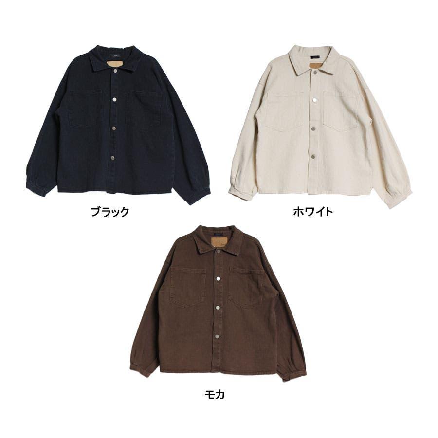 ジャケット ウォッシュ加工オーバージャケット 羽織 レトロ ヴィンテージ ゆったりサイズ カツラギ 長袖 2