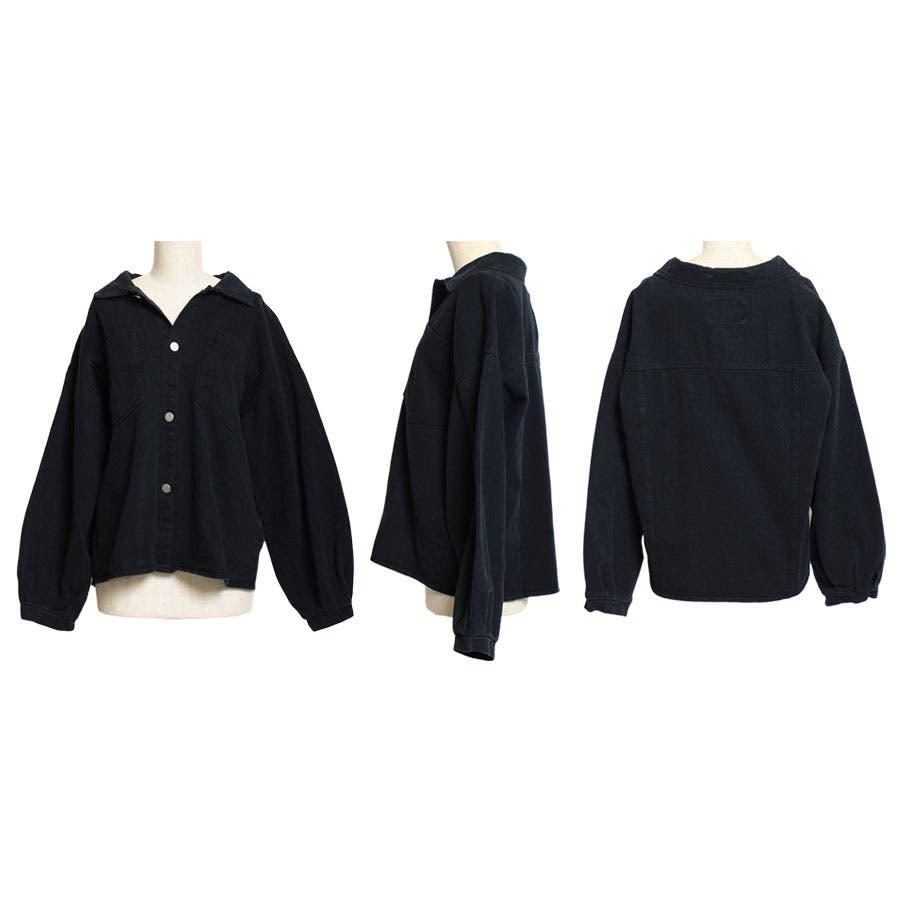 ジャケット ウォッシュ加工オーバージャケット 羽織 レトロ ヴィンテージ ゆったりサイズ カツラギ 長袖 3