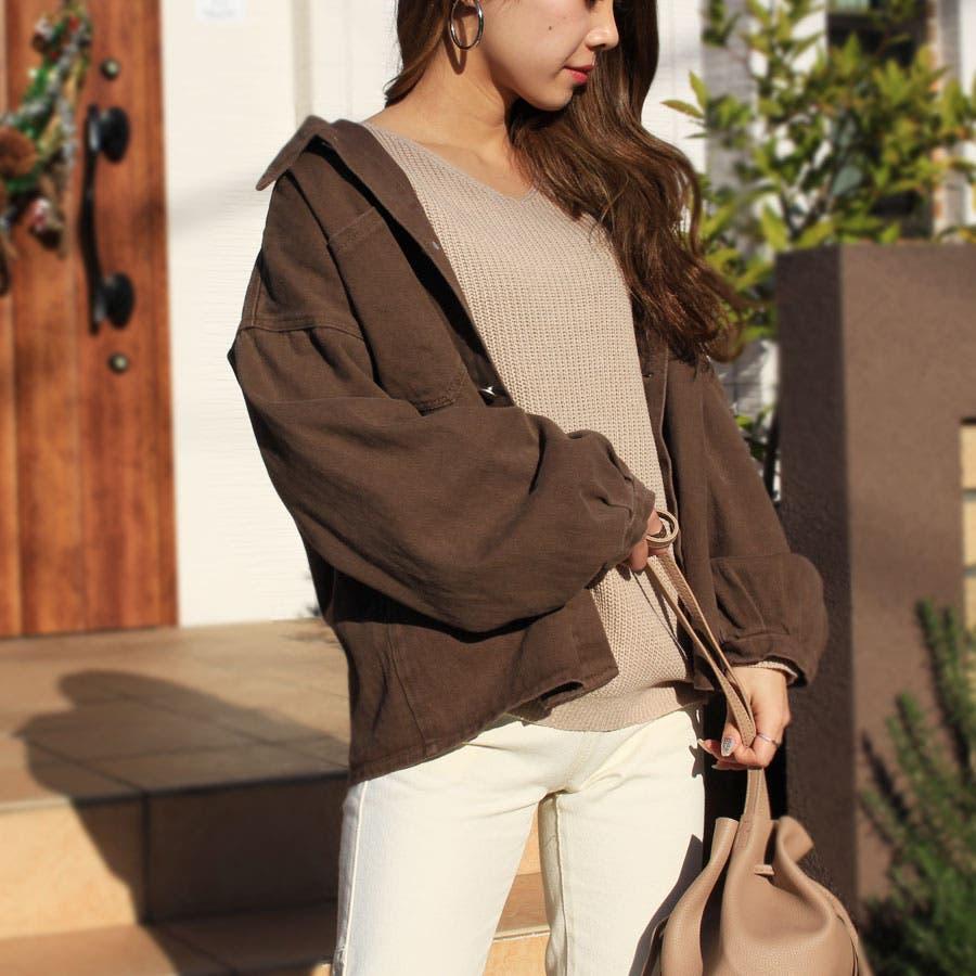 ジャケット ウォッシュ加工オーバージャケット 羽織 レトロ ヴィンテージ ゆったりサイズ カツラギ 長袖 4