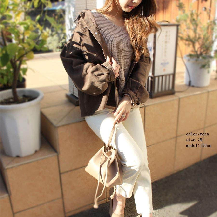 ジャケット ウォッシュ加工オーバージャケット 羽織 レトロ ヴィンテージ ゆったりサイズ カツラギ 長袖 7