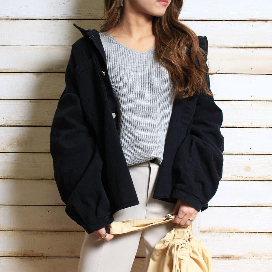 ジャケット ウォッシュ加工オーバージャケット 羽織 レトロ ヴィンテージ ゆったりサイズ カツラギ 長袖 21