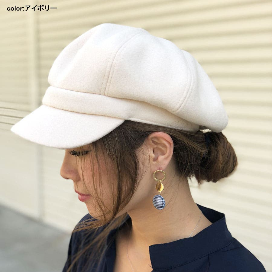 キャスケット 帽子 無地キャスケット グレンチェックキャスケット キャップ ハット シンプル 6