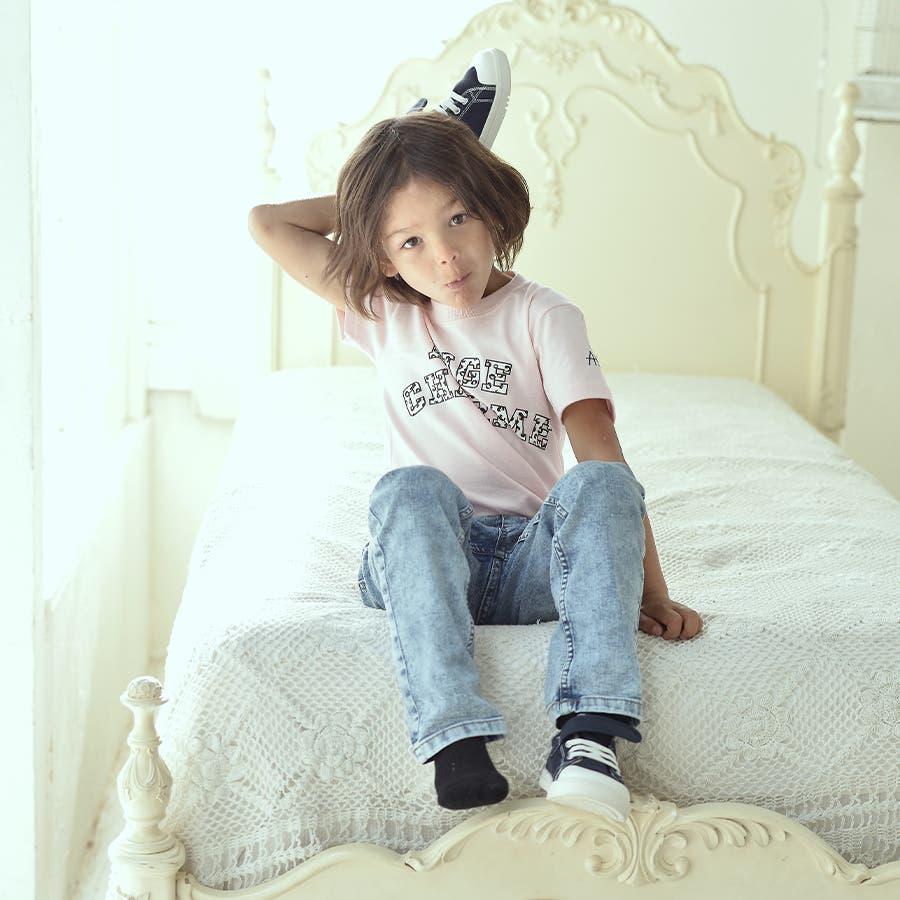 [セット(子ども)]ジャガードロゴソックス×アニマルロゴTシャツ 1